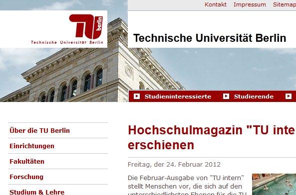 Technische Universität Berlin beseitigt Schwachstelle